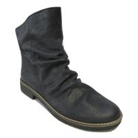 Boots FELMINI cuir retourné marine