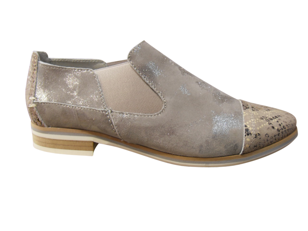 Mocassin/loafer cuir gris MITICA confort