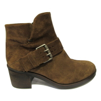 Boots en daim marron clair MJUS talon