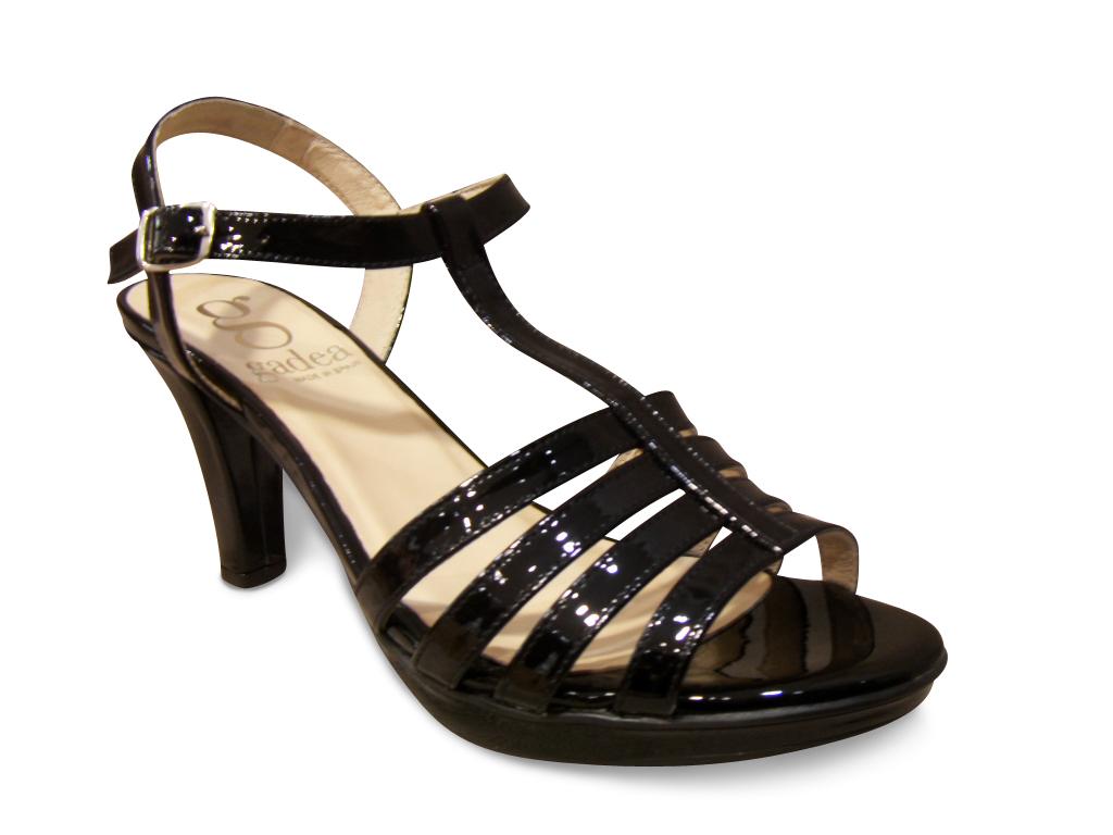 Nu-pied GADEA vernis noir à talon