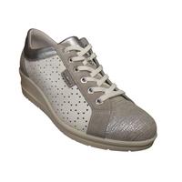 Basket détente basses à talon compensé confort ENVAL cuir blanc