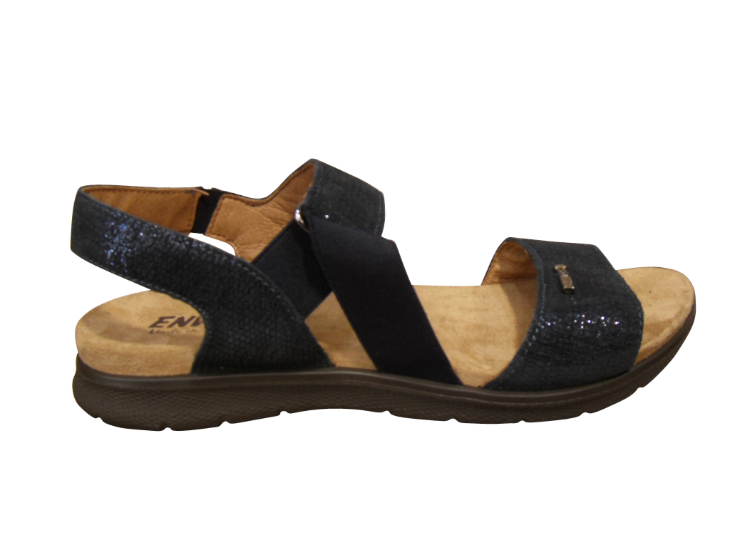 sandale pied nu confort cuir bleu enval sandales nu pieds chaussures pour femmes femmes pour. Black Bedroom Furniture Sets. Home Design Ideas