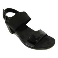 Nu-pied ENVAL confort cuir noir