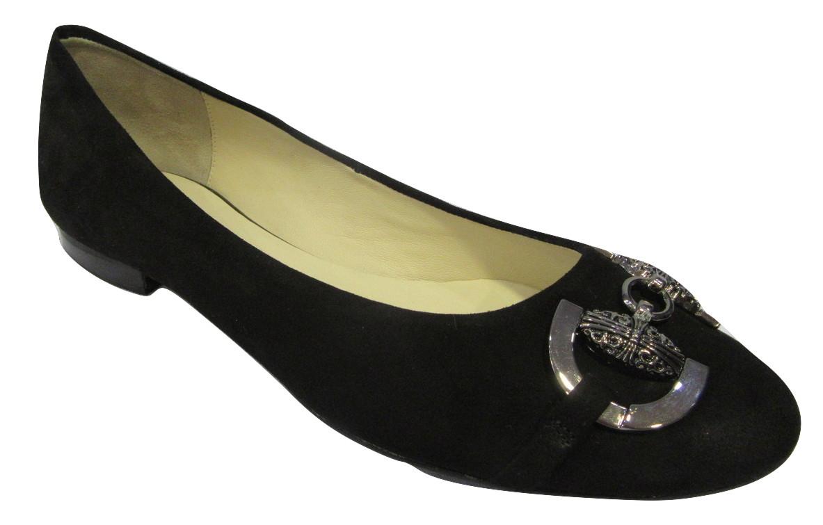 Ballerine HOGL cuir noir confort ZCYEisT