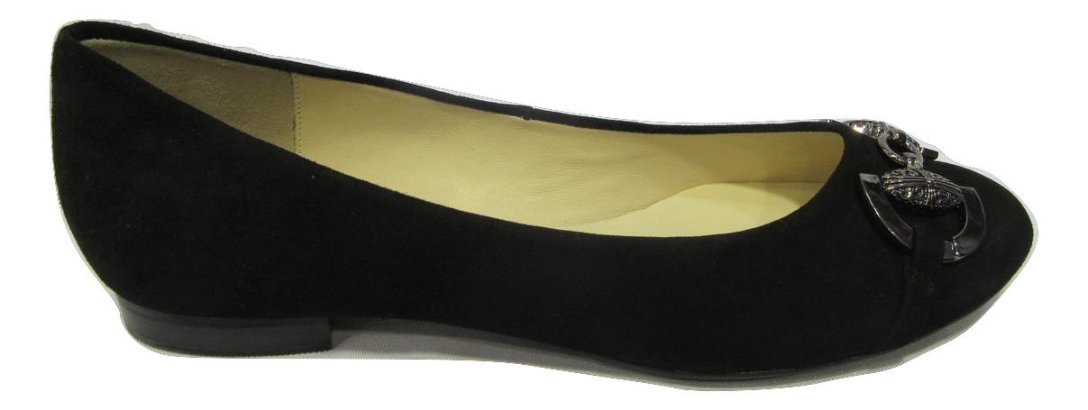 Ballerine HOGL daim noir mode et confort