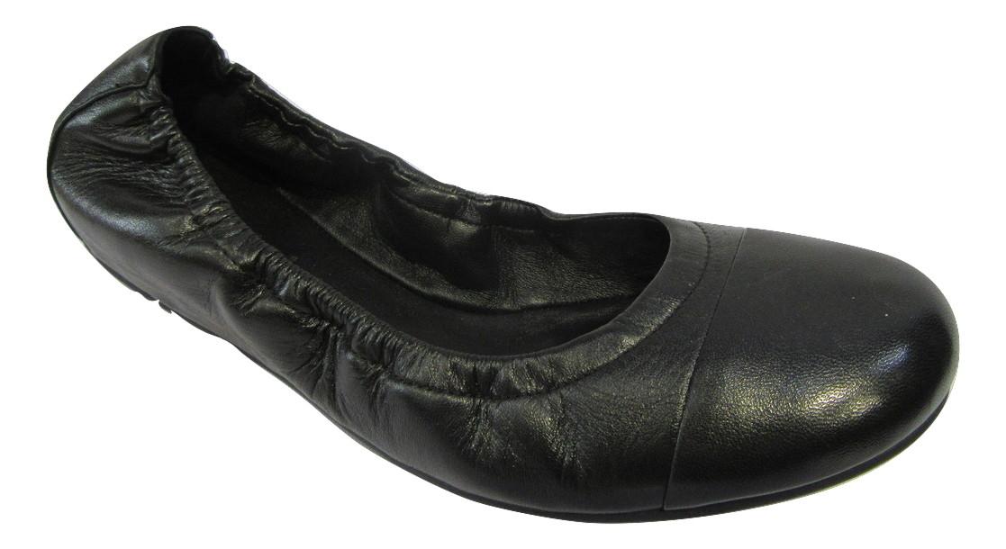 ballerine hogl cuir noir confort ballerines chaussures. Black Bedroom Furniture Sets. Home Design Ideas
