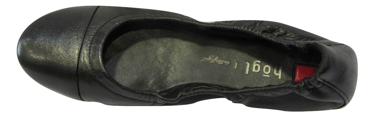 Ballerine HOGL cuir noir confort