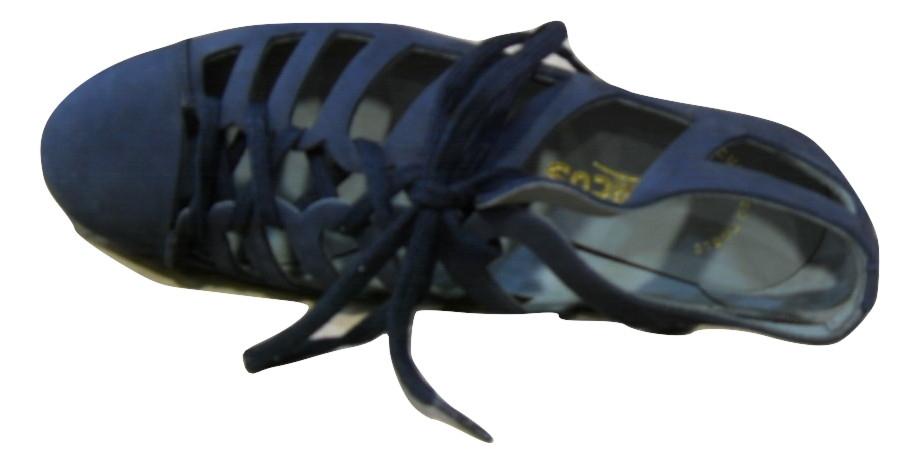 Sandale confort ARCUS nubuck bleu