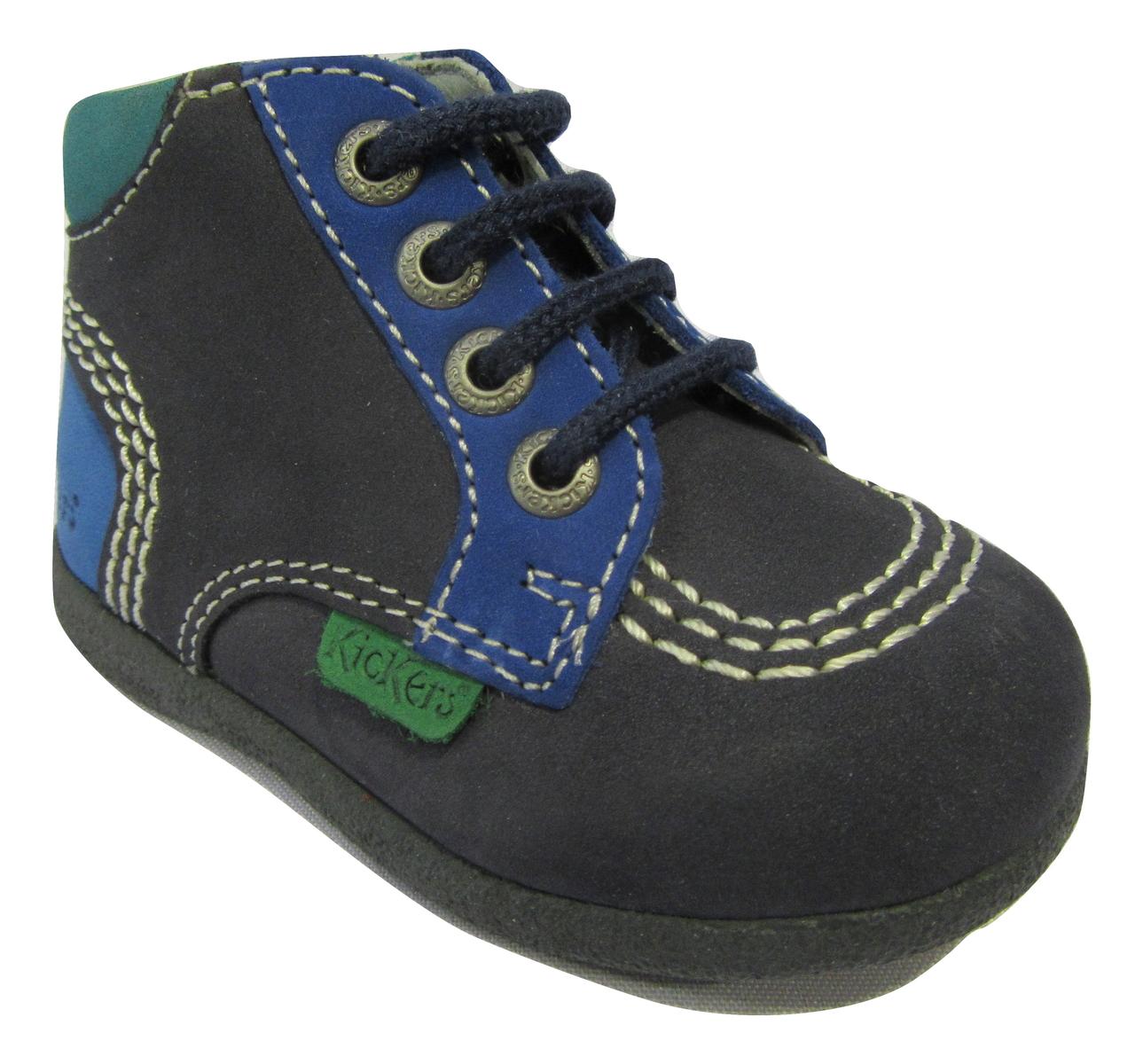 Chaussure premiers pas KICKERS en cuir bleu