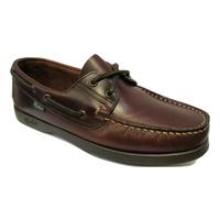 Chaussure bateau PARABOOT cuir marron cousu