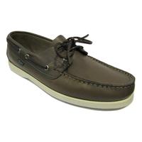 Chaussure bateau PARABOOT cuir gris cousu
