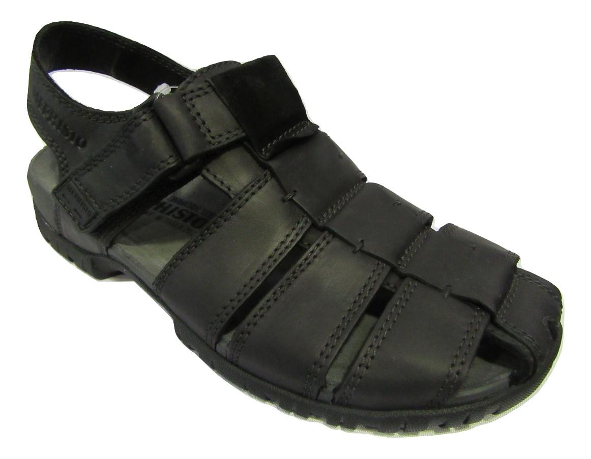 e3021a895e8b8 Sandale MEPHISTO cuir noir confort homme. Sandales et Tongs ...