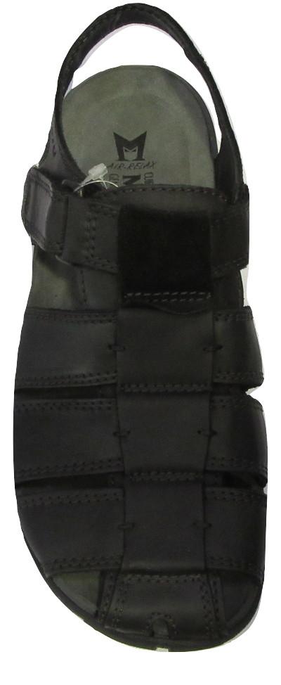 Sandale MEPHISTO cuir noir confort homme.