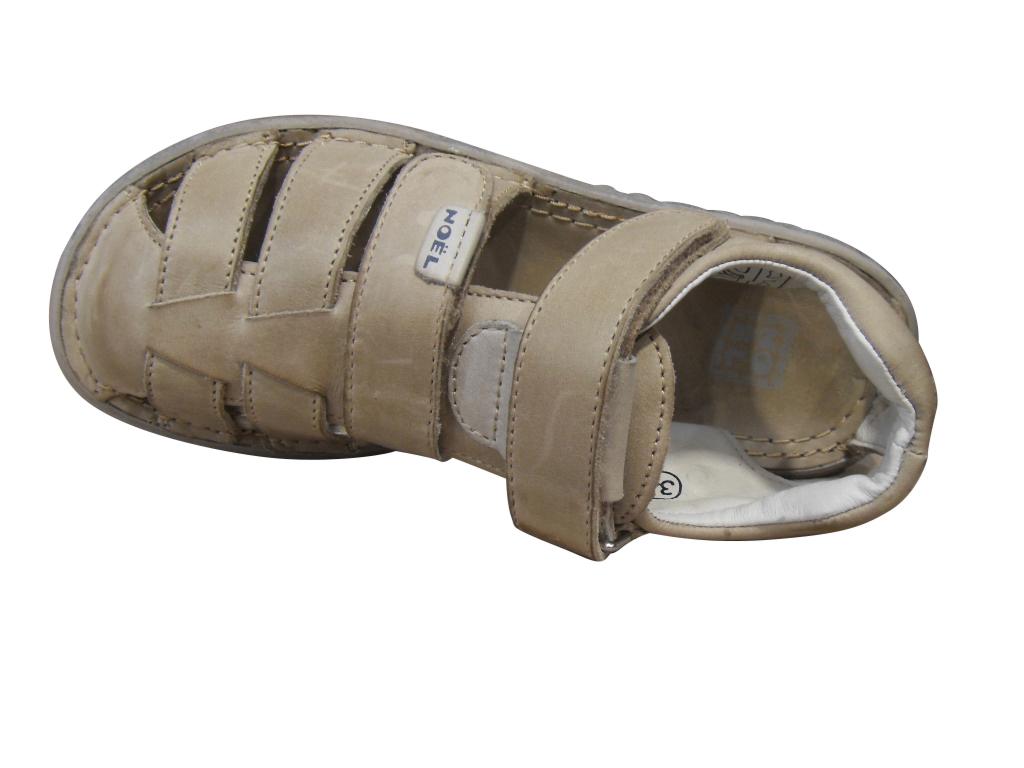 Sandale garçon NOEL cuir beige (pointure 35 à 36)