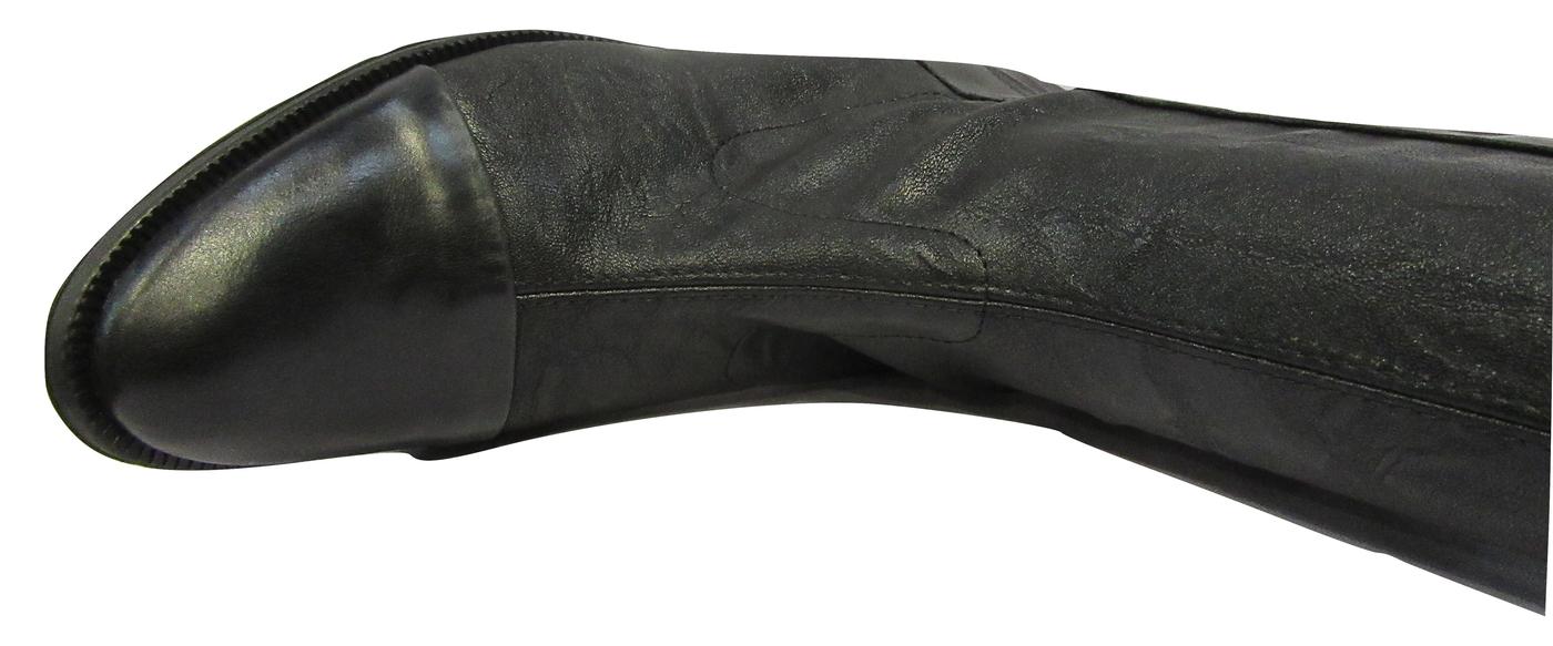Botte FRANCE MODE strech et cuir noir