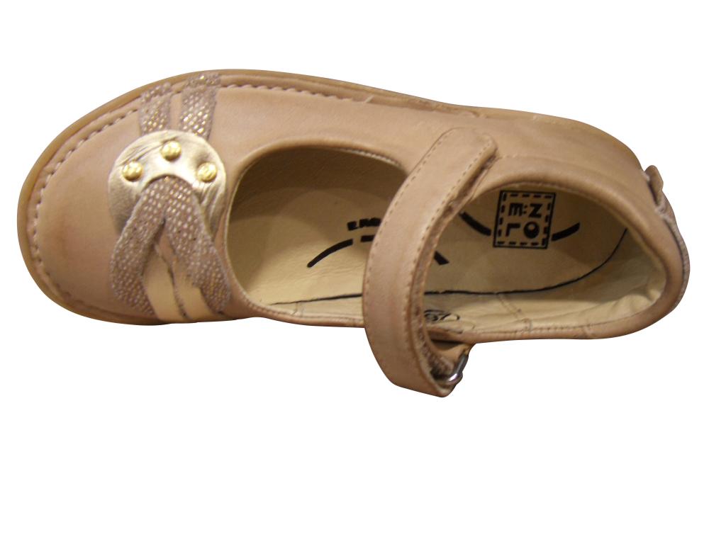 Babies/Ballerines fille NOEL cuir beige (pointure 24 à 27)