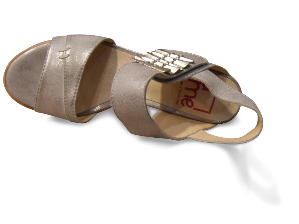 Chaussure confortpieds sensibles cuir LUXAT blanc casse