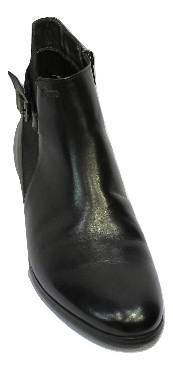 Boots à fermeture en cuir noir SIOUX