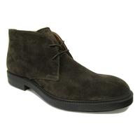 Boots homme à lacets cuir daim marron PELLET