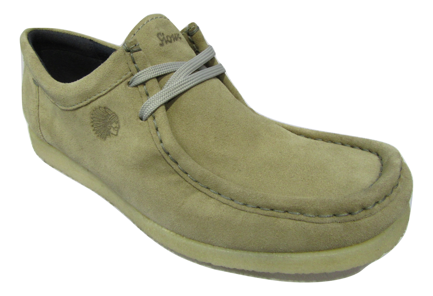 Chaussure confort chic SIOUX en cuir velours beige semelle crepe