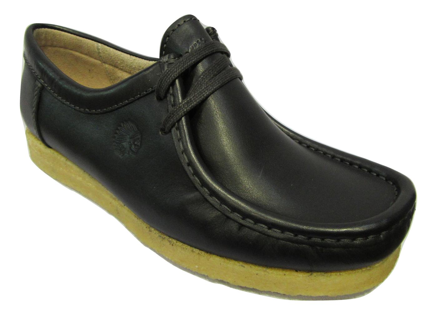 Chaussure confort chic SIOUX en cuir noir semelle crepe
