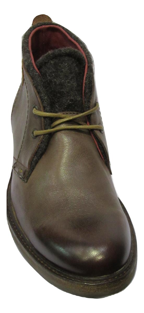Boots à lacets KICKERS cuir marron