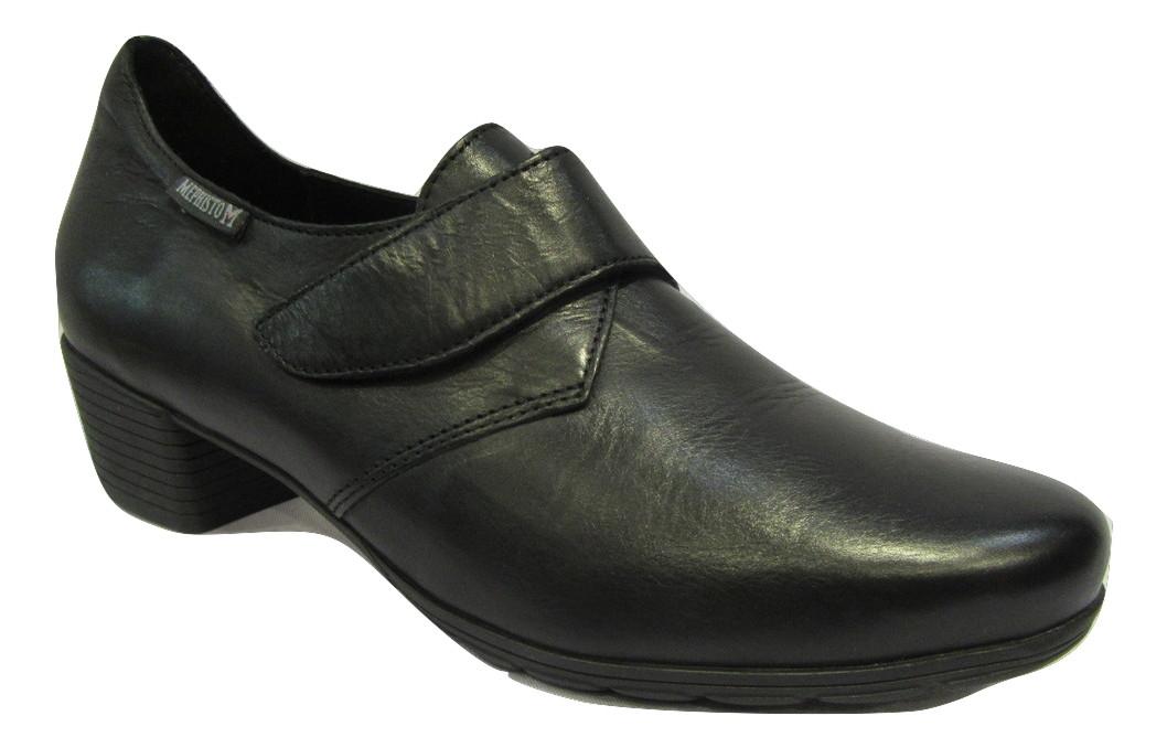 Chaussure ville confort MEPHISTO à velvro cuir noir
