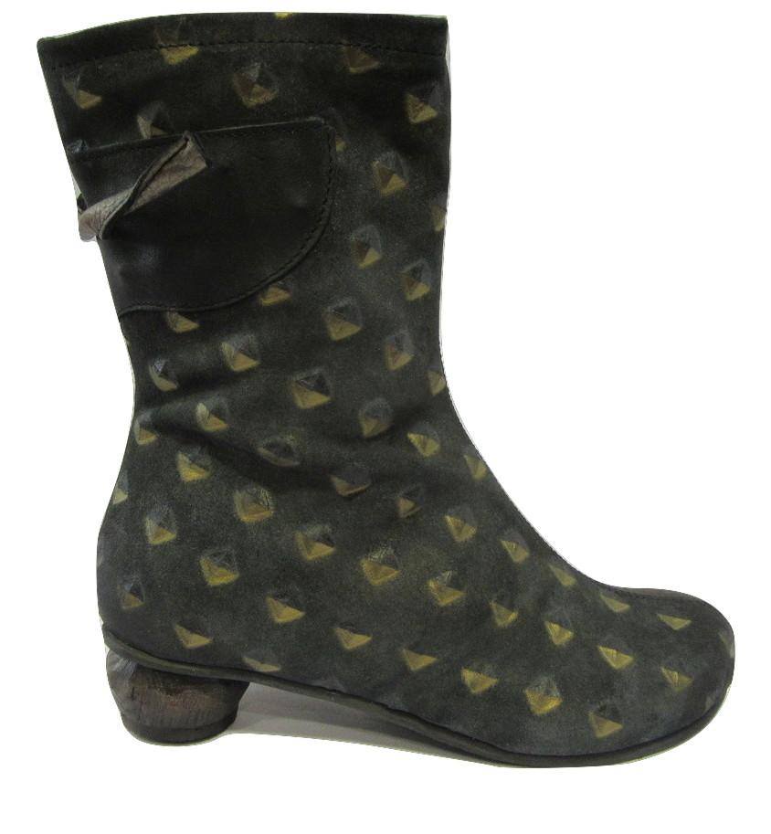 Boots/Mi bottes cuir originales PAPUCEI noir
