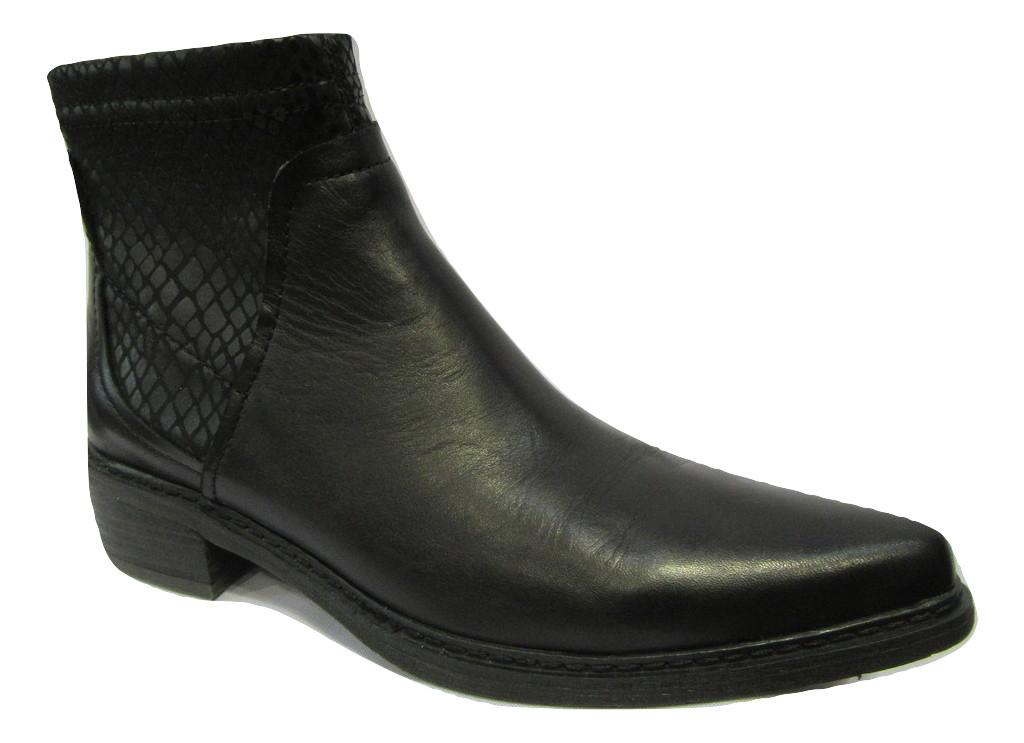Boots en cuir/strech UN MATIN D ETE noir