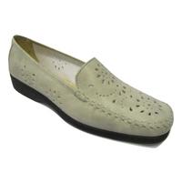 Mocassin confort/pieds sensibles en cuir MARCO gris