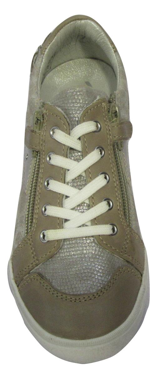 Basket NOEL cuir beige (pointure 24 à 27)