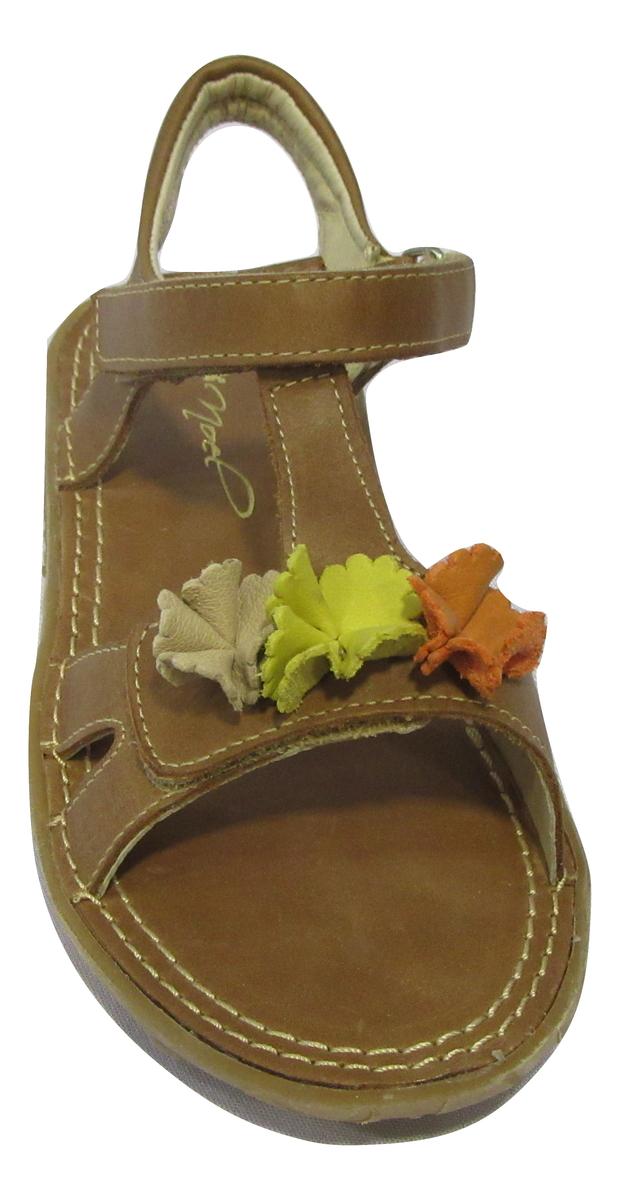Nu-pied/Sandale fille NOEL cuir marron