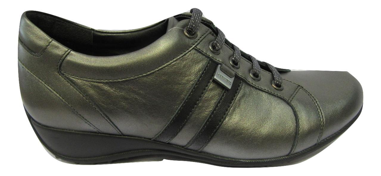 Basket/Chaussure confort MEPHISTO cuir gris acier