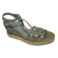 Sandales/Nu pieds confort compensé MITICA doré