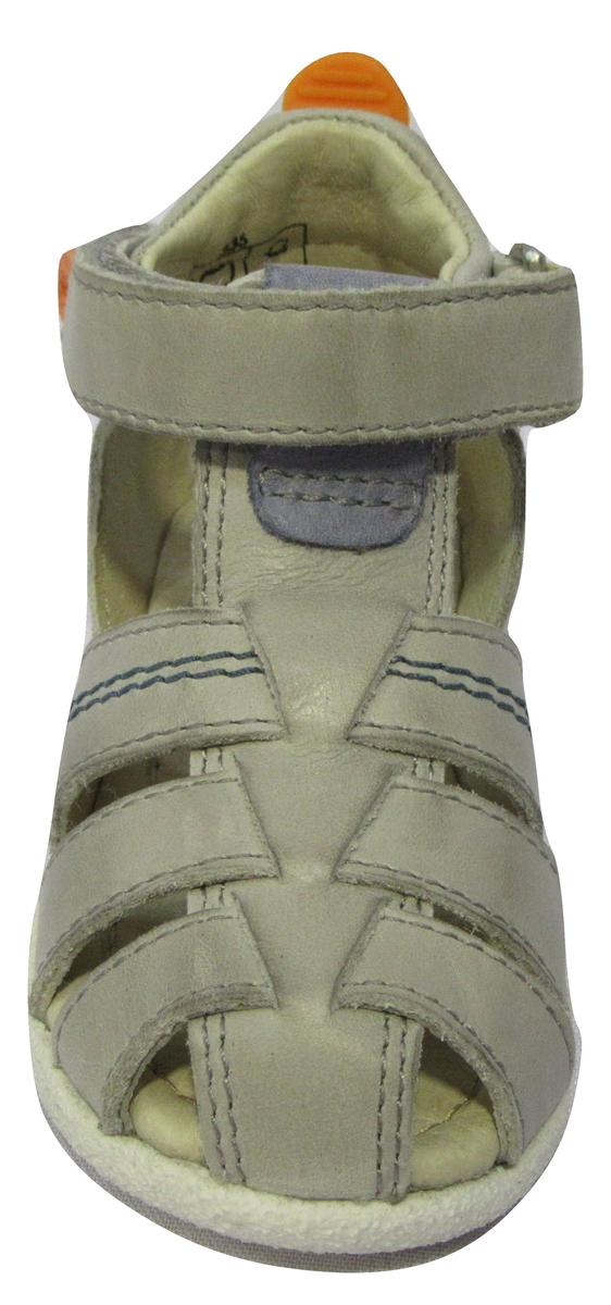 Nu-pied/Sandale garçon NOEL cuir gris