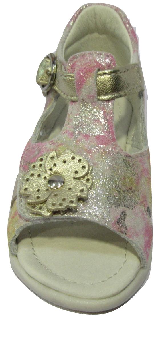 Nu-pied/Sandale fille NOEL cuir rose