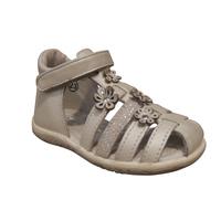 Nu-pied/Sandales fille NOEL cuir blanc (pointure 19 à 23)