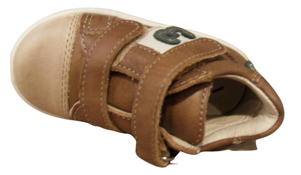 Basket montantes  NOEL cuir marron
