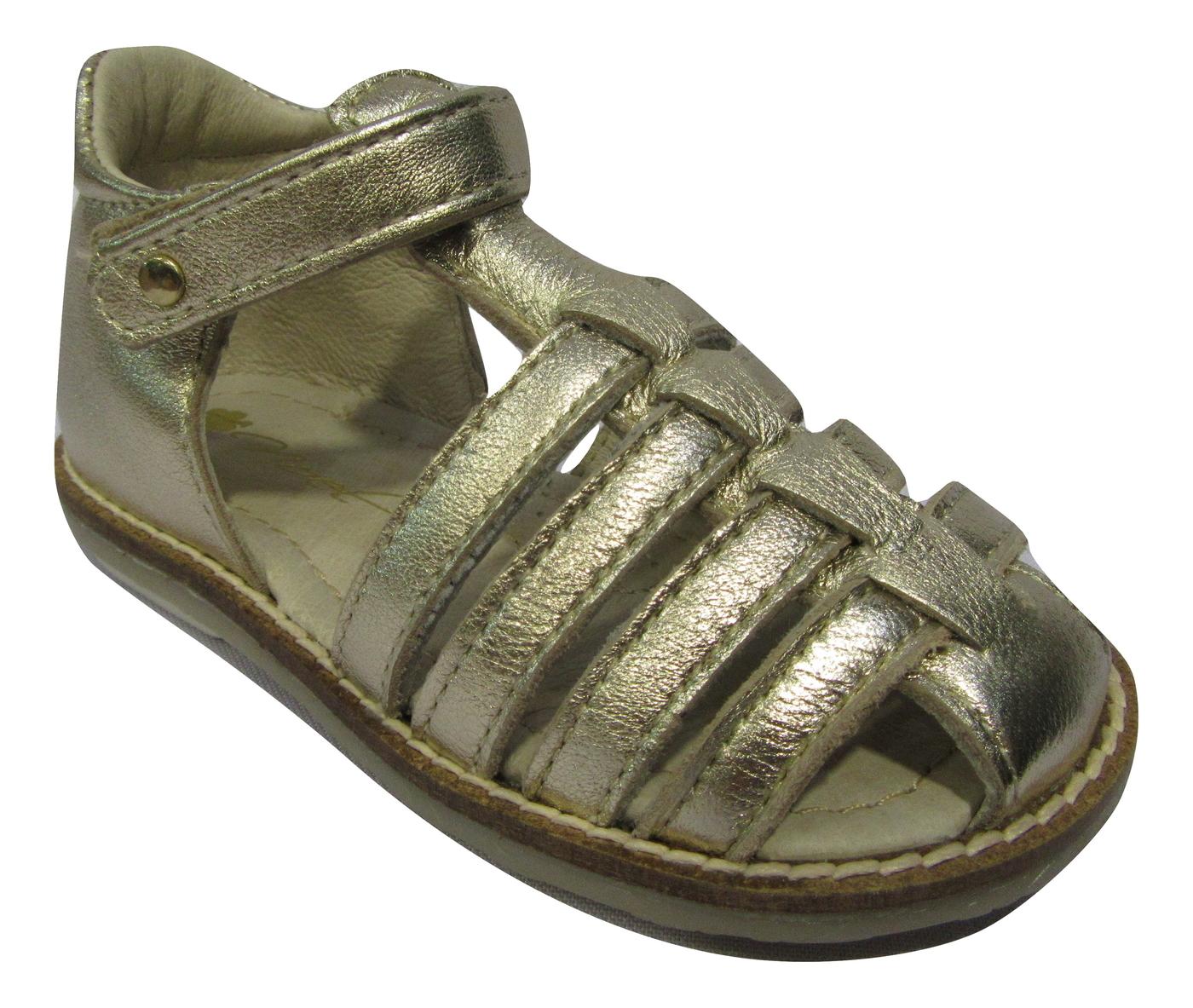 Nu-pied/Sandale fille NOEL cuir doré