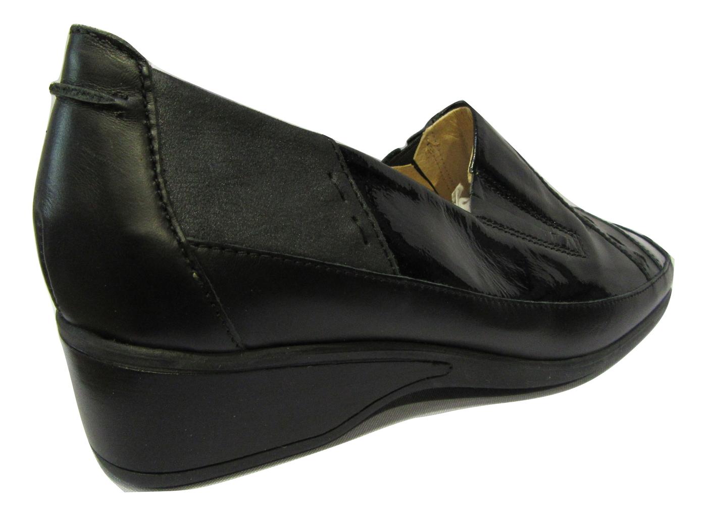 Chaussure confort/pieds sensibles cuir LUXAT noir talon anti chocs