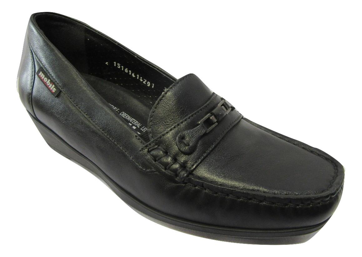Mocassin confort MEPHISTO cuir noir
