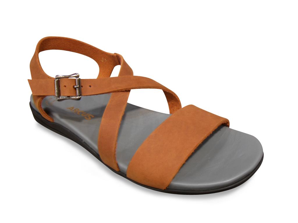 sandale nu pied arcus cuir marron confort sandales nu pieds chaussures pour femmes femmes pour. Black Bedroom Furniture Sets. Home Design Ideas
