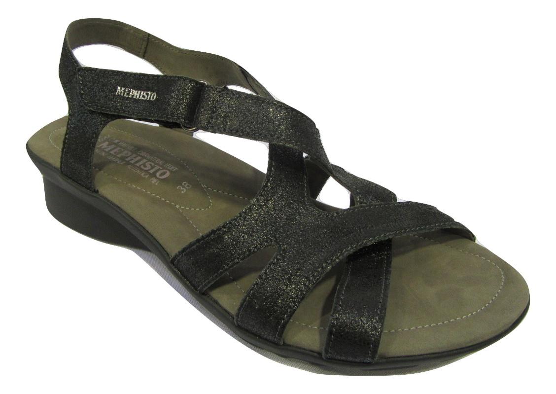 Sandales/Nu pied MEPHISTO cuir noir