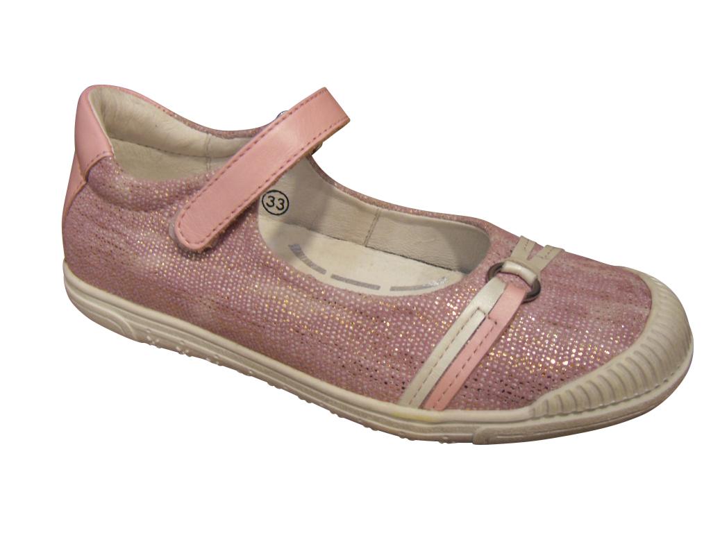 561cf23a8f7d7 Babies Ballerine fille NOEL cuir rose (pointure 28 à 34) Chaussure ...