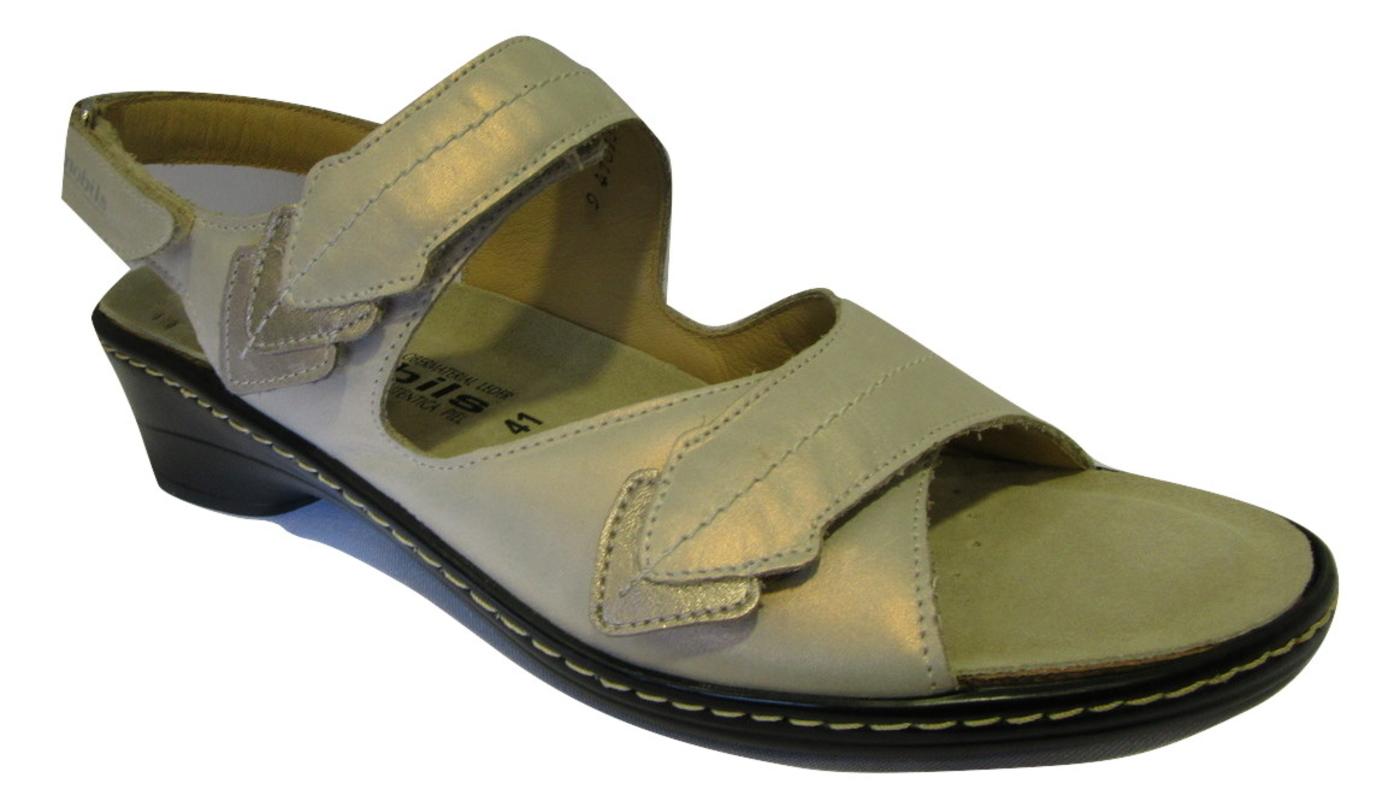 Nu-pied/Sandale confort MEPHISTO semelle amovible cuir beige