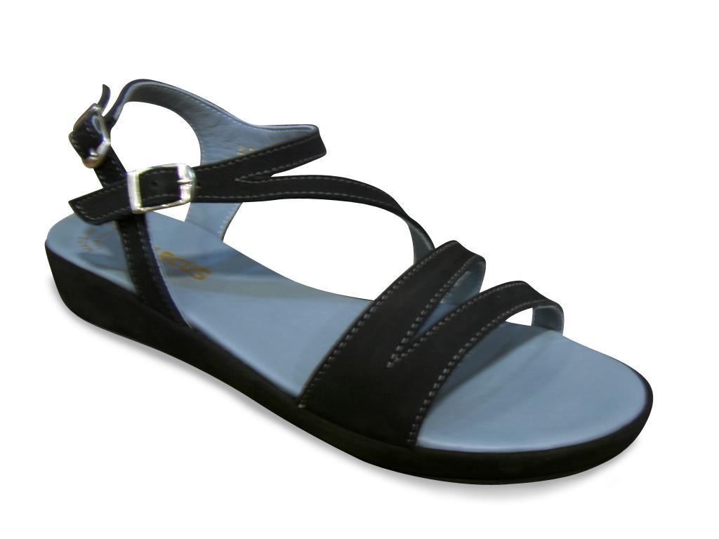 Sandale/Nu-pied ARCUS nubuck noir confort