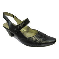 Escarpin talon ouvert METAYER noir anthracite