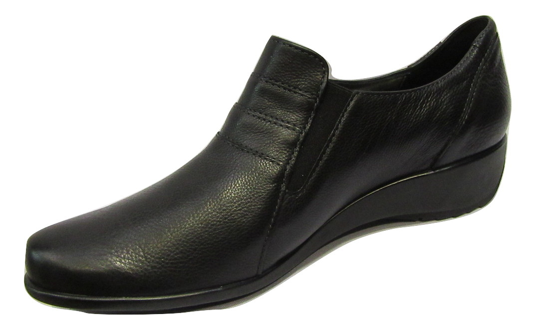 Bottines confort METAYER en cuir lisse noir xQKq9