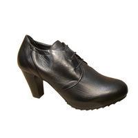 Low boots HOGL cuir noir talon