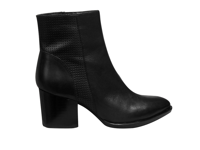 Bottine/Boots talon haut MYMA cuir noir